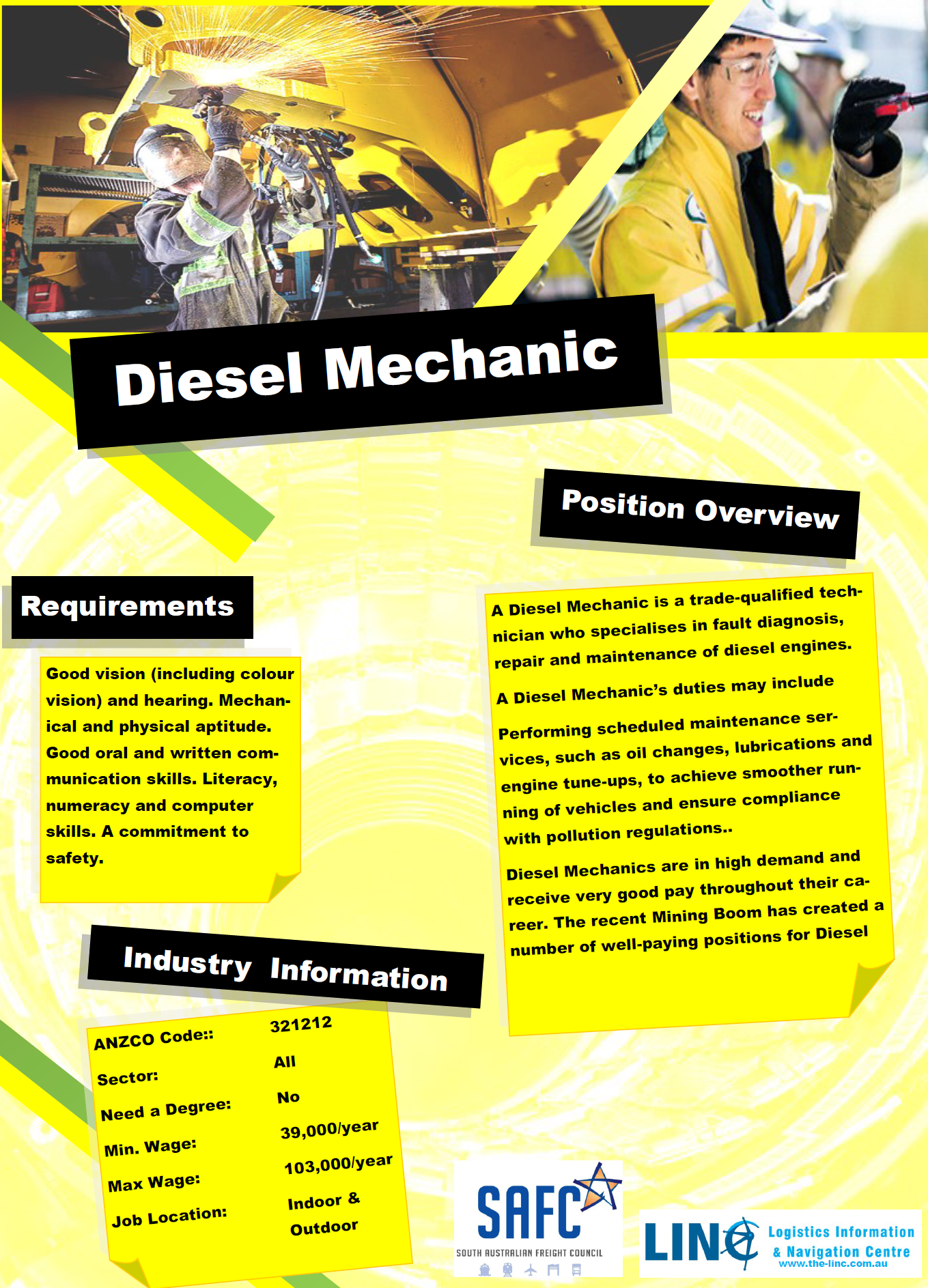 Diesel Mechanic study physics in australia